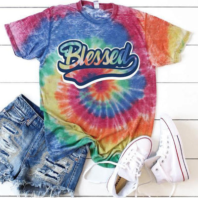 Blessed Tie Dye Graphic Tee - Creations by FC