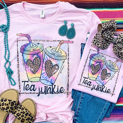 Iced Tea Junkie Mama & Mini Graphic Tee (PRE-ORDER) - Creations by FC