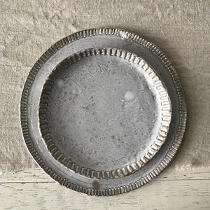 PLATE  - dia 22,5 cm, fluted rim, modern rustic,  imperfectionlove,  foodphotography, foodstyling