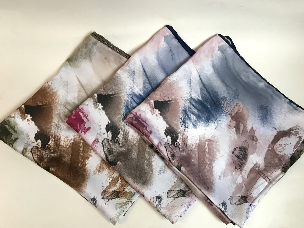 The Rembrandt Satin Scarf