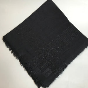 Cotton Scarf with Glitter Border