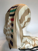 Satin Geometric Scarf