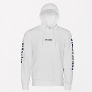 Evil Geniuses White Hoodie with drawstrings front
