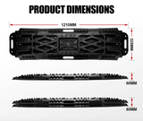10 TONNE RECOVERY TRACKS BLACK SAND MUD SNOW PAIR TRAX 4WD OFFROAD - Country Outdoor Supplies