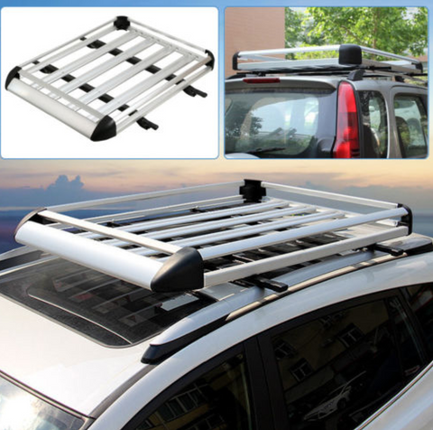 1.3M Aluminium Alloy Car 4WD 4x4 Roof Rack Basket Cargo Luggage Carrier - Country Outdoor Supplies