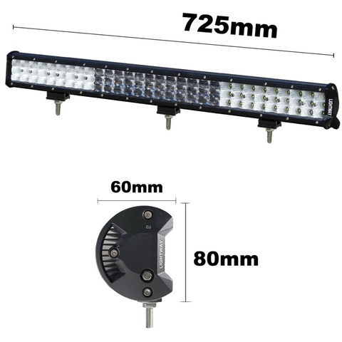28inch 630w Osram Led Light Bar Spot Flood Combo Offroad Work Driving Country Outdoor