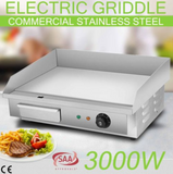 Electric Griddle Grill Commercial Stainless Steel Restaurant Hot Plate BBQ 3000W - Country Outdoor Supplies