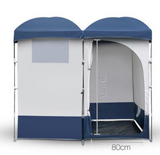 Country Comfort Double Pop Up Portable Shower Toilet Tent Outdoor Camp Change Room - Country Outdoor Supplies