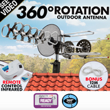 Rotating Outdoor Digital TV Antenna Remote Aerial HDTV UHF VHF - Country Outdoor Supplies