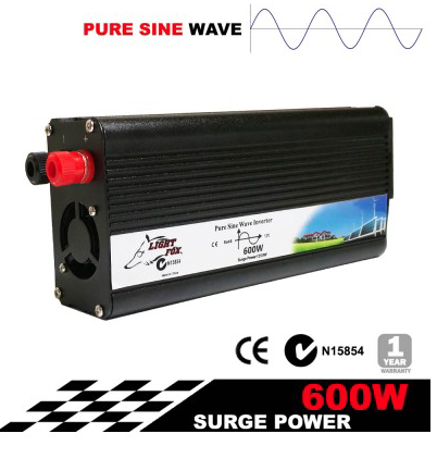 PURE SINE WAVE 600W MAX 1200W 12V-240V POWER INVERTER CAR CARAVAN BOAT - Country Outdoor Supplies