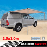 CAR AWNING ROOF TOP TENT 2.5M X 3M OUTDOOR CAMPER TRAILER PULL OUT 4WD - Country Outdoor Supplies