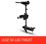 90LBS Electric Trolling Motor Inflatable Marine Outboard Engine - Country Outdoor Supplies