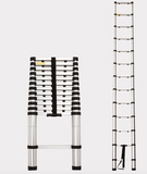 3.8m Telescopic Aluminium Ladder Alloy Extension Extendable Steps - Country Outdoor Supplies