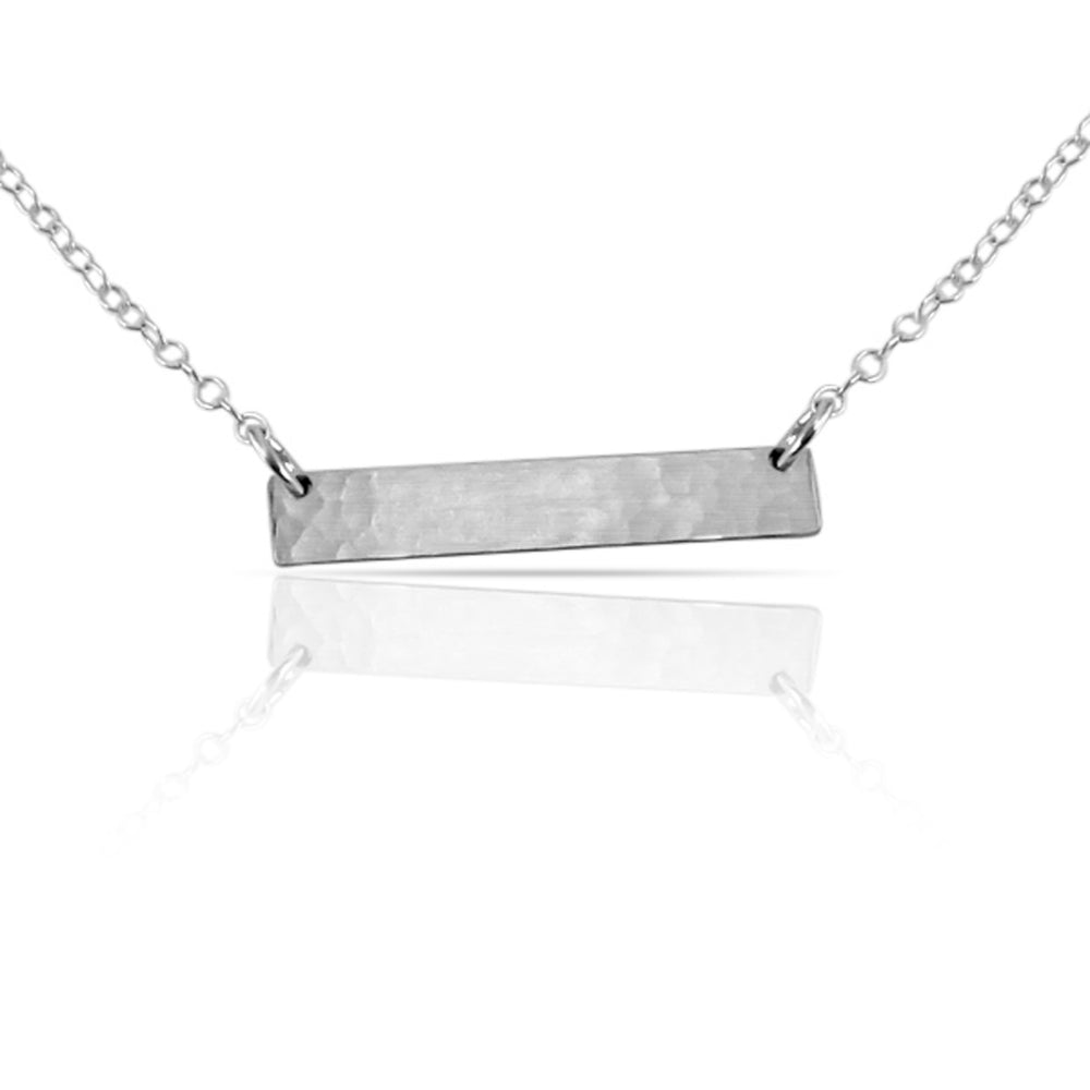 Silver blank bar necklace.