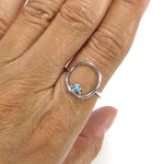 Cushion Frame Ring with Turquoise