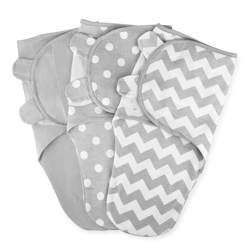 Baby Swaddle Blankets 3 Pack Grey