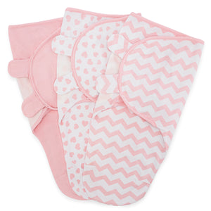 Baby Swaddle Blankets 3 Pack Pink