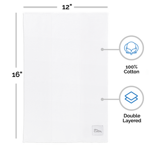 Solid White Cotton Burp Cloths