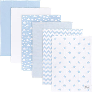 Blue Cotton Burp Cloths
