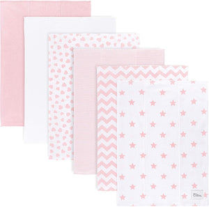Pink Cotton Burp Cloths