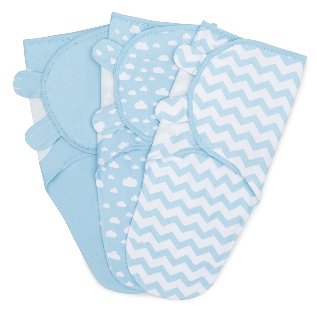 Baby Swaddle Blankets 3 Pack Blue