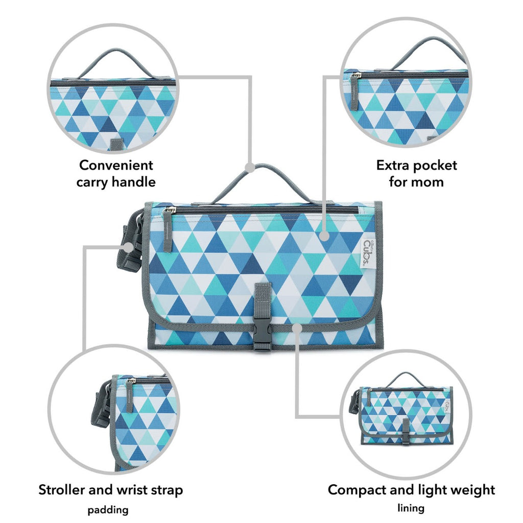 Portable Changing Pad Large Blue