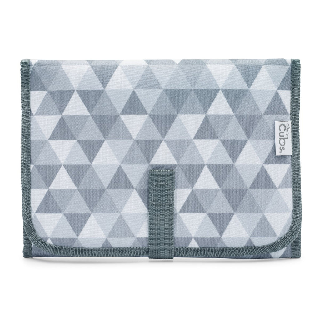 Compact Changing Pad Grey Triangle Pattern