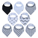 Holiday Baby Bundle - Diaper Caddy, White Muslin Burp Cloth 6 Pack, Bandana Bibs 8 pack and Swaddle 3 Pack