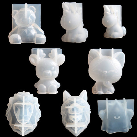 Transparent Unicorn Silicone Epoxy Resin Molds