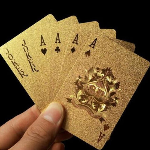 24 K Gold Playing Cards