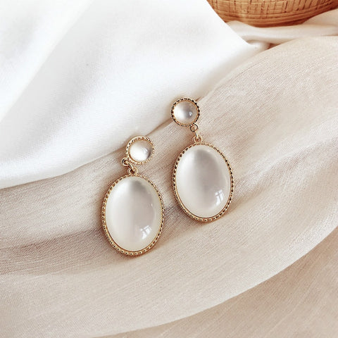 Cat's Eye Stone Earrings