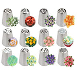 14pc Stainless Steel Tulip Icing Piping Nozzles