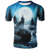 Mens T-Shirt Summer Wolf