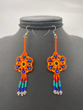 Load image into Gallery viewer, Colorful small dream catcher earrings