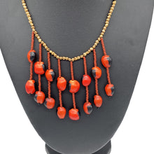 Load image into Gallery viewer, Earthy fiery seed necklace