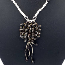 Load image into Gallery viewer, Braided black seed long necklace