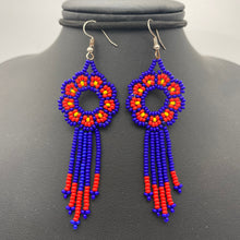 Load image into Gallery viewer, Small floral dream catcher earrings