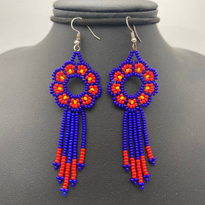 Small floral dream catcher earrings