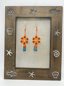 Colorful small dream catcher earrings