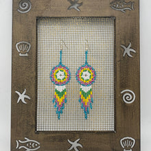 Cargar imagen en el visor de la galería, Colorful dream catcher earrings
