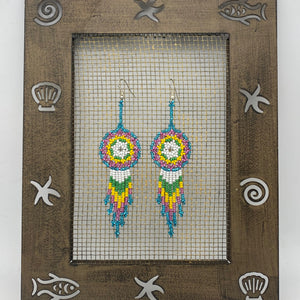 Colorful dream catcher earrings