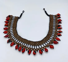 Load image into Gallery viewer, Thick band necklace edged with fiery seeds