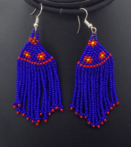 "Long beaded ""feather"" earring Collection"