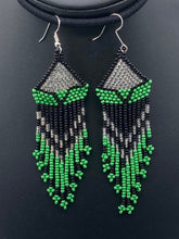 "Load image into Gallery viewer, Long beaded ""feather"" earring Collection"