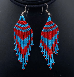 Blue and red dangle