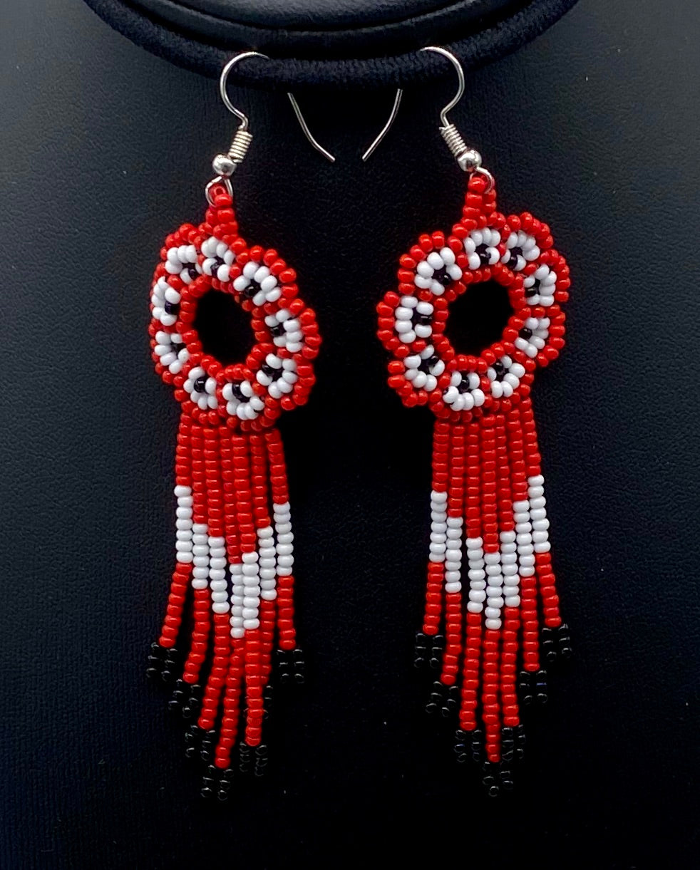 red and white sun catcher