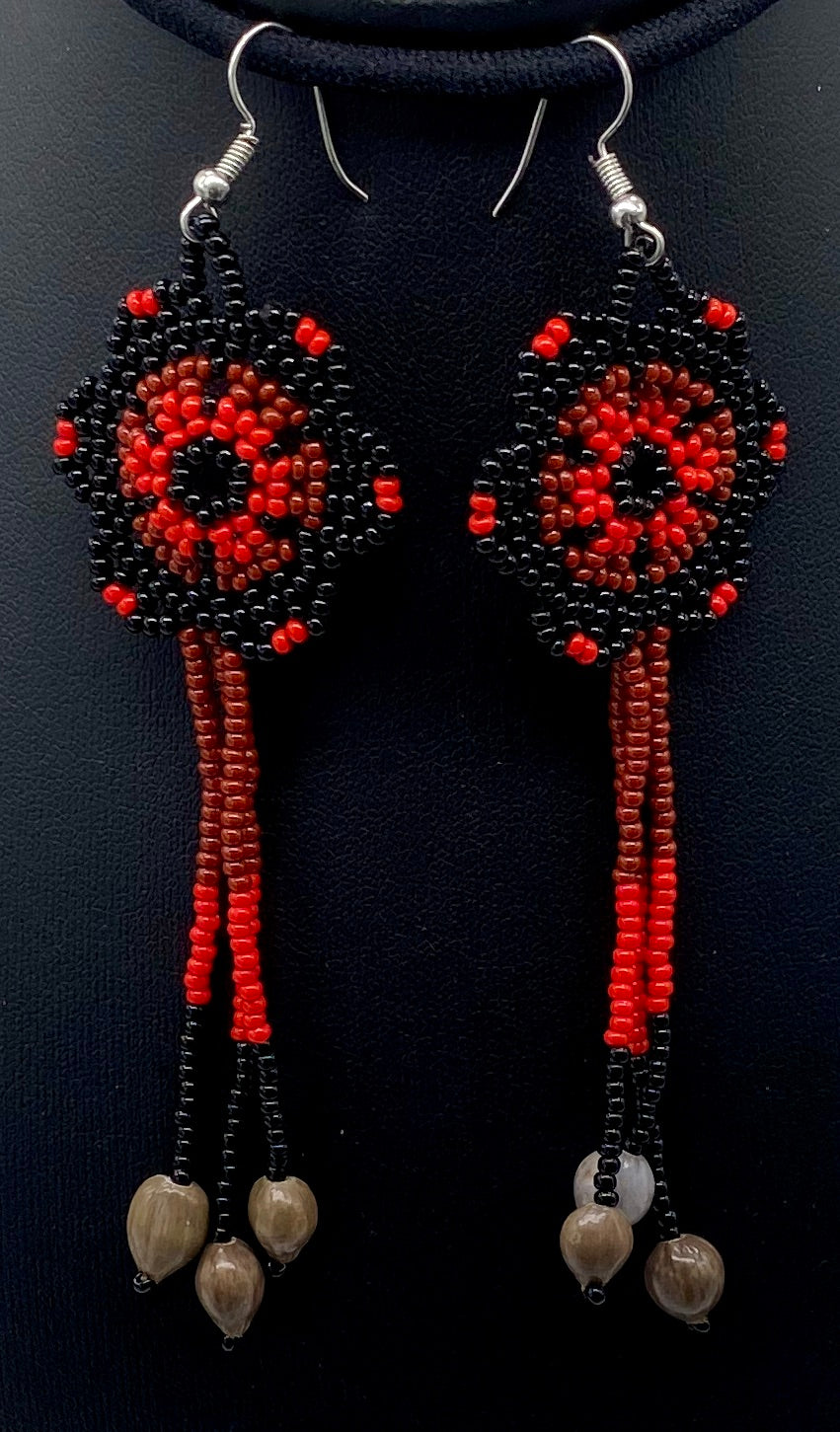 red and black with native beads at ends