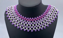 Load image into Gallery viewer, Lavender and white layered beaded necklace