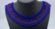 Load image into Gallery viewer, Blue and colored beaded necklace