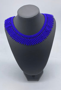 Cobalt blue beaded necklace